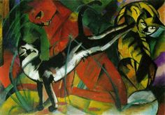 Born on February 8, 1880 in Munich, Germany, Franz Marc was a principal painter of the German Expressionist movement. The son of a professional landscape painter, Marc chose to become an artist after a year of military service interrupted his plans to study philology. Marc studied at the Kunstakademie in Munich under Gabriel von Hackl …