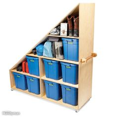 Basement Junk Storage - OK, maybe junk is too harsh a word. We're talking about luggage, camping gear, the ugly vase Aunt Martha gave…