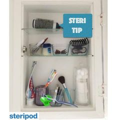 In the #bathroom #cabinet there are #gerns. #protect & #freshen your #toothbrush with #steripod. getsteripod.com  #toothbrushes #oralb #sonicare #crest #colgate #travel #traveler #travelers #nogerms #sanitizer #protector #travelbag #oralcare #oralhealth #dentist #dentalhygiene #mom #stayathomemom #kids #dormroom #backtoschool #gym