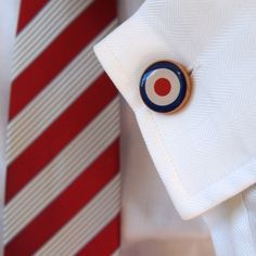 Classic British Military roundel #cufflinks, blue and red