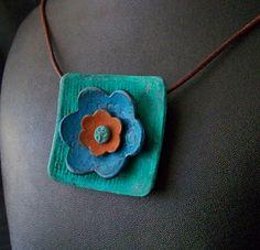 Flower Pendant_edited-1 by Polygolems, via Flickr