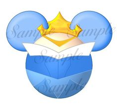 Aurora blue dress (Sleeping Beauty) Character inspired DIGITAL printable Mickey Head file DIY on Etsy, $3.00