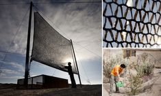 Bringing the driest place in the world to life: 'Fog catchers' attempt to harvest moisture with huge nets in Chilean desert