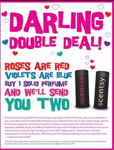 Solid Perfume BOGO February only!