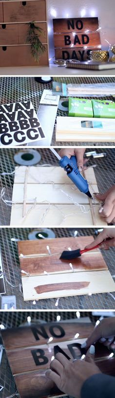 Marquee Light-up Board | DIY Summer Room Decor Ideas Teen Bedroom