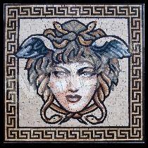 History of Mosaic Art Medusa, Picture Borders, Mosaic Pictures, Mosaic Projects, Klimt, Letters And Numbers, Ancient Greek, Mosaic Art, I Tattoo