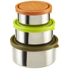 Safe and eco-friendly food storage is as easy as 1-2-3 with our Stainless Steel Nesting Trio
