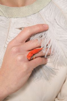 Coral Parrot Ring | Kathleen Whitaker
