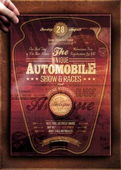 """The Flyer Poster Templates """"Vintage Car Vol. 8"""" You'll find it on my website www.thecreativecat.it"""