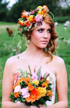Kolorowe kwiaty do włosów
