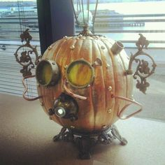 Steam Punk Pumpkin Steampunk Halloween, Halloween Jack, Outdoor Halloween, Holidays Halloween, Halloween Pumpkins, Halloween Crafts, Halloween Decorations, Halloween Party, Fall Decorations