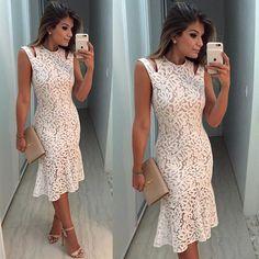 {Night ✨} Vestido @lojadalla ❤️ Renda branca com fundo nude é muuuito amor! Eu sou apaixonada!! Esse midi está chiquerrimo, super elegante! A loja envia para todo Brasil www.lojadalla.com.br • #lookdanoite #lookofthenight #ootd #selfie #blogtrendalert