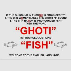 I knew of a band in high school named Ghoti Hook but they pronounced it Fish Hook as well. Interesting....