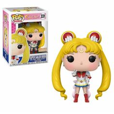 Vinyl Figure at Mighty Ape NZ. Fighting evil by moonlight, winning love by daylight, never running from a real fight! This Super Sailor Moon Pop! Vinyl Figure brings your favourite. Figurines D'action, Pop Figurine, Funko Pop Dolls, Funko Toys, Sailor Moon Toys, Funko Pop Display, Funko Pop Anime, Funk Pop, Chibi