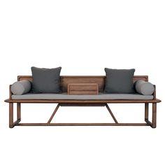 纯实木 原木 罗汉床 中式沙发 明心系列素元木作设计师品牌-淘宝网
