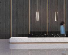 Digital Modelling Studio 3D - Marble Slab Reception Desk