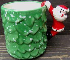 Holt Howard Santa Claus Handle Christmas Holiday Green Ceramic Mug Vintage 1960 in Collectibles, Holiday & Seasonal, Christmas: Modern (1946-90)   eBay