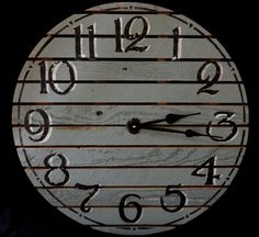Made from discarded boards.  22 Inch RUSTIC RECYCLED Wall CLOCK Cut From by ClocksByHomestead, $99.00