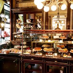 Cakes wonderland at Demel. Photo by ---------------------------- Use the to see only the INTERIORS on my account. Tea Lounge, Home Office Decor, Home Decor, Vienna Austria, Love Design, Liquor Cabinet, Architecture Design, Interior Design, Inspiration