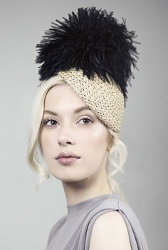 Mini Hat, Feather Fascinator Cocktail Hat, Spring Races Hat, SS2016 - Valentine