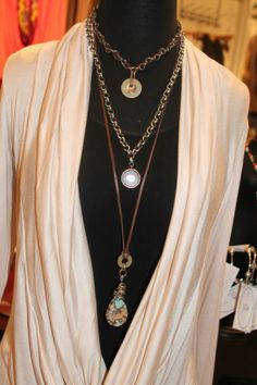 Great necklaces to layer from Mainstream Boutique!