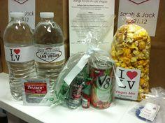 Las Vegas Welcome Bags, Las Vegas gift bag, Las Vegas wedding favor, hangover kit