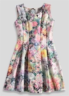 Girls Candy Couture Floral Print Dress (8-16yrs)