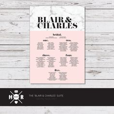Marble and blush seating chart for engagement or wedding. Modern and unique. @hudsonmeetrose.
