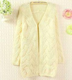 Casual knitting twist loose medium-long sweater cardigan outerwear