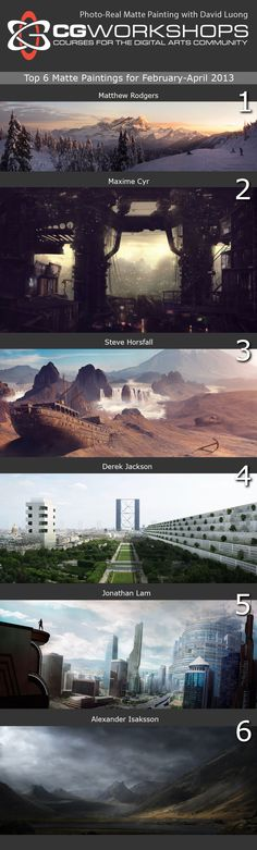 Digital Matte Painting - Environments - David's class is awesome, if you are interested in Matte Painting and how it's done I'd definitely look at it