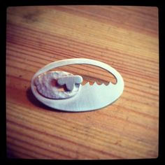 #sheep brooch in #silver by jemsjewellery #style #fashion #british #handmade #jewellery