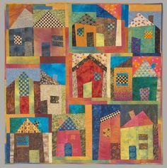 """""""Model Homes"""" by Karen Flamme, fiber artist (California)"""