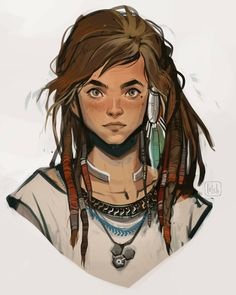 More concept art of Aloy, the lead character of Horizon: Zero Dawn! Together with the rest of the design team at Guerrilla, I helped create… Character Design Cartoon, Character Drawing, Character Design Inspiration, Character Concept Art, Character Sketches, Dnd Characters, Fantasy Characters, Female Characters, Half Elf