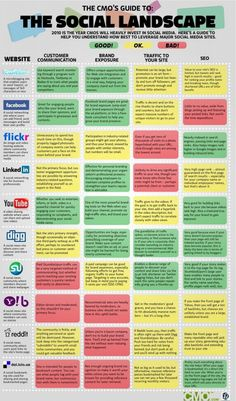 Infographics The CMO's Guide to the Social Media