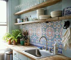 Decorative Tiles For Kitchen Backsplash Create A Decorative Kitchen Backsplash With Cement Tiles