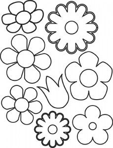 moldes flores artesanato feltro eva trabalhos manuais (2)