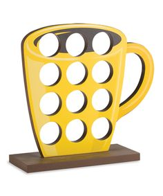 Yellow Cup Coffee Capsule Holder   zulily