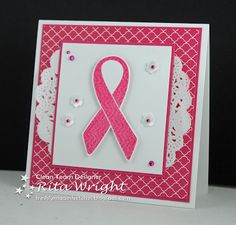 Rita's Creations: FMS109.  Rita Wright.....Like the way she kissed the ribbon to give texture