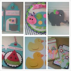 Handmade scrapbook embellishments, tags and cards from dalayney. Chucklesandcharms on etsy.