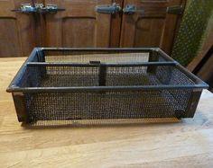 casier caisse grillage fer vintage pour déco loft atelier industriel - Modifier une fiche produit - Etsy