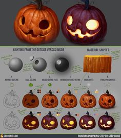Painting Pumpkins Step by Step Guide by CGCookie.deviantart.com on @DeviantArt
