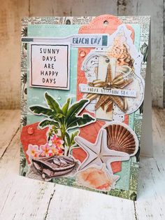 Simple Stories' Simple Vintage Coastal.  Design by Debra Lord for Scrappin' in the City.