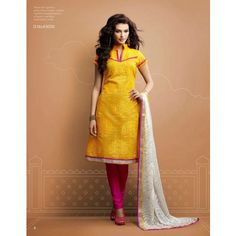 Online Shopping for Pure Chanderi Salwaar Kameez Suit w | Dress Material | Unique Indian Products by Wardrobe - MWARD87214247710