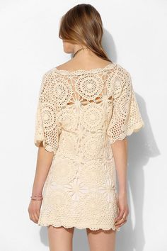Crochet beach dress PATTERN detailed by JustFavoritePATTERNs