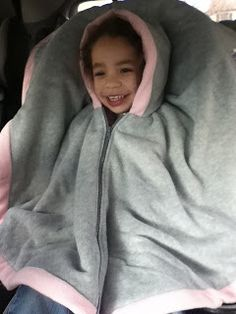 A  carseat poncho  is a safe alternative to using bulky coats in the carseat. I was actually surprised at how thick the fleece was on the po...
