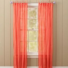 Coral Curtains or Drapes | Twisted Curtain, 40x96, Coral - Polyvore
