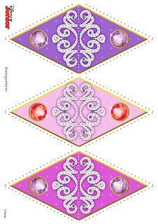 Casinha de Criança: Kit Festa Princesa Sofia Para Imprimir Grátis.  FLAGS