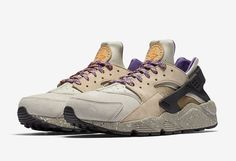 the latest 2b290 55d86 These Nike Air Huarache Mowabb colorways inspired by the Nike ACG hiking  shoe from 1992 in LinenGolden Beige-Court Purple and BlackDesert  Moss-Solar Red