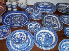 blue  willow | Early transferware designs including Blue Willow