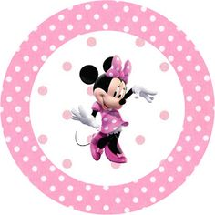 Minnie Mouse: Free Printable Toppers or Labels in pink. Right click and save as Minnie Mouse Stickers, Minnie Mouse Cupcake Toppers, Mickey E Minnie Mouse, Minnie Mouse 1st Birthday, Minnie Mouse Baby Shower, Kids Birthday Cards, Birthday Invitations, Free Printable, Frames